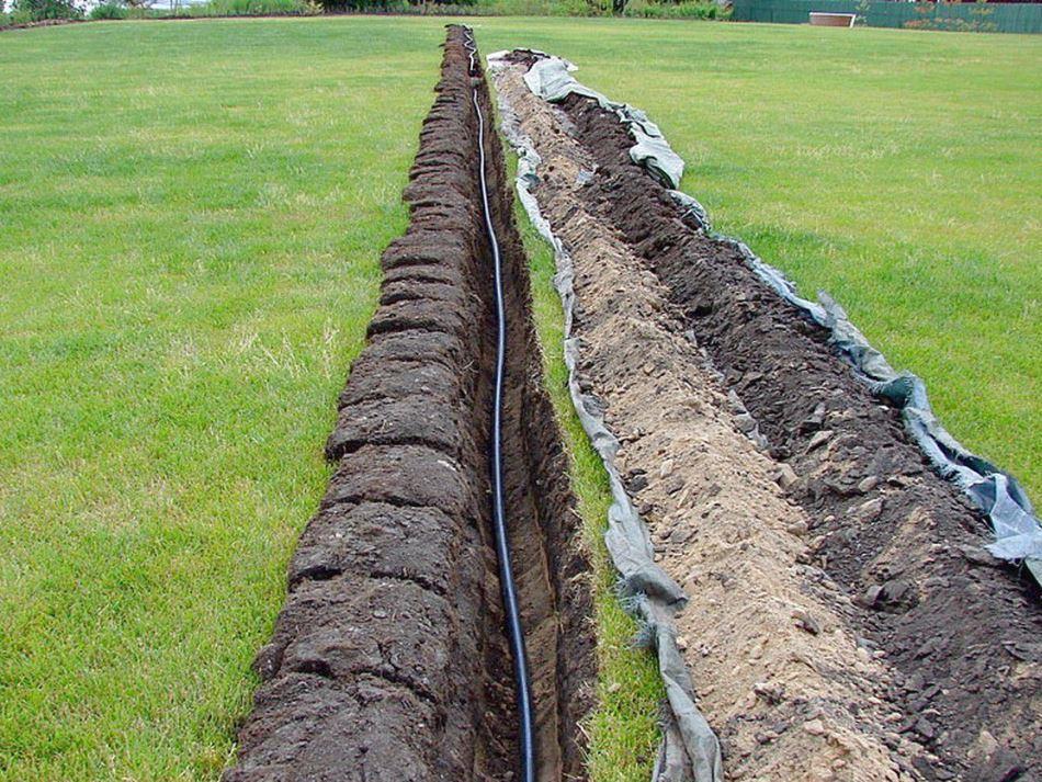 Прокладка водопровода из полипропиленовых труб в земле 16