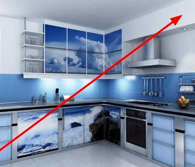 как спрятать вытяжку на кухне фото