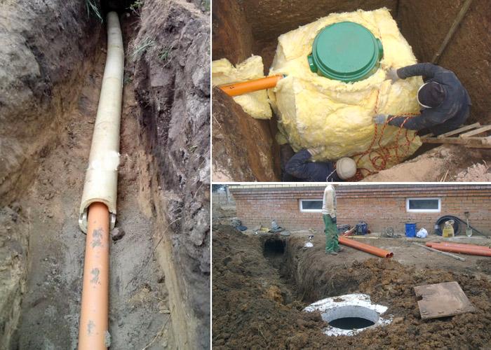 Прокладка водопровода из полипропиленовых труб в земле 36