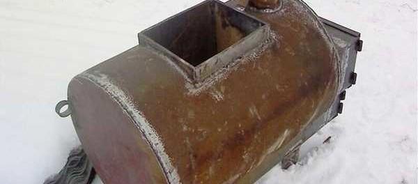 банная печь из трубы своими руками