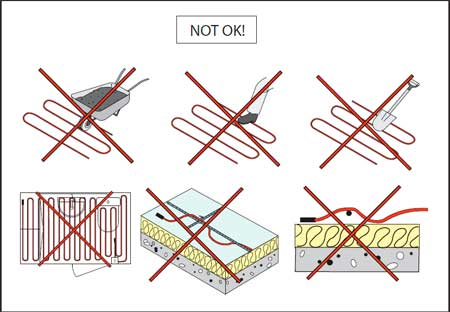 монтаж греющего кабеля внутри трубы
