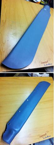 скрепить продольный шов ножен с помощью заклёпок или люверсов