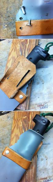 время как сделать ножны из пластиковой трубы фото казан или кастрюлю