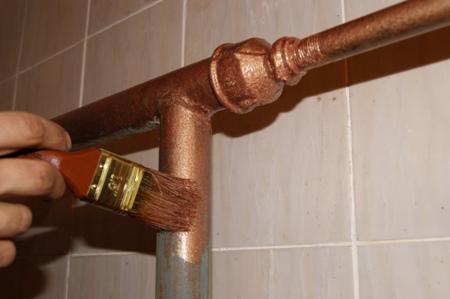 чем красить газовые трубы в квартире